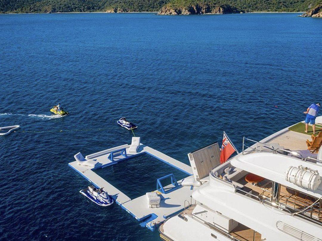 Sea Pool on Motor Yacht Milestone