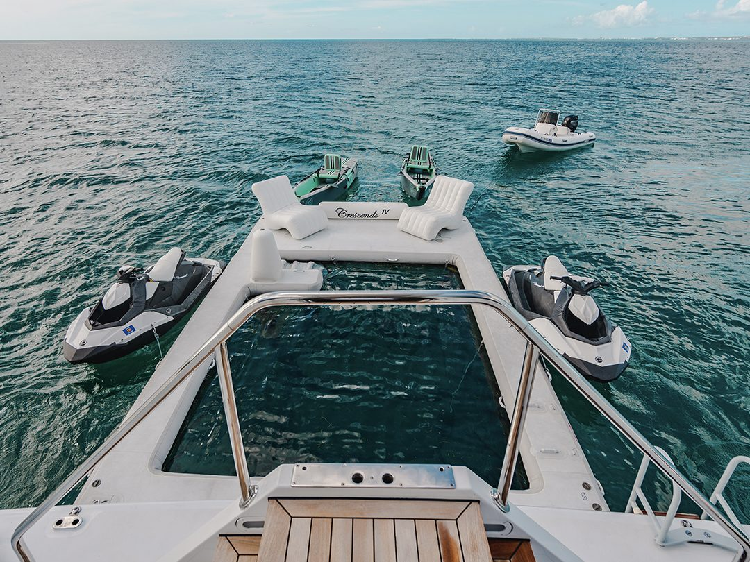 FunSize Beach Club Sea Pool and Superyacht Wave Chair on Motor Yacht Crescendo IV