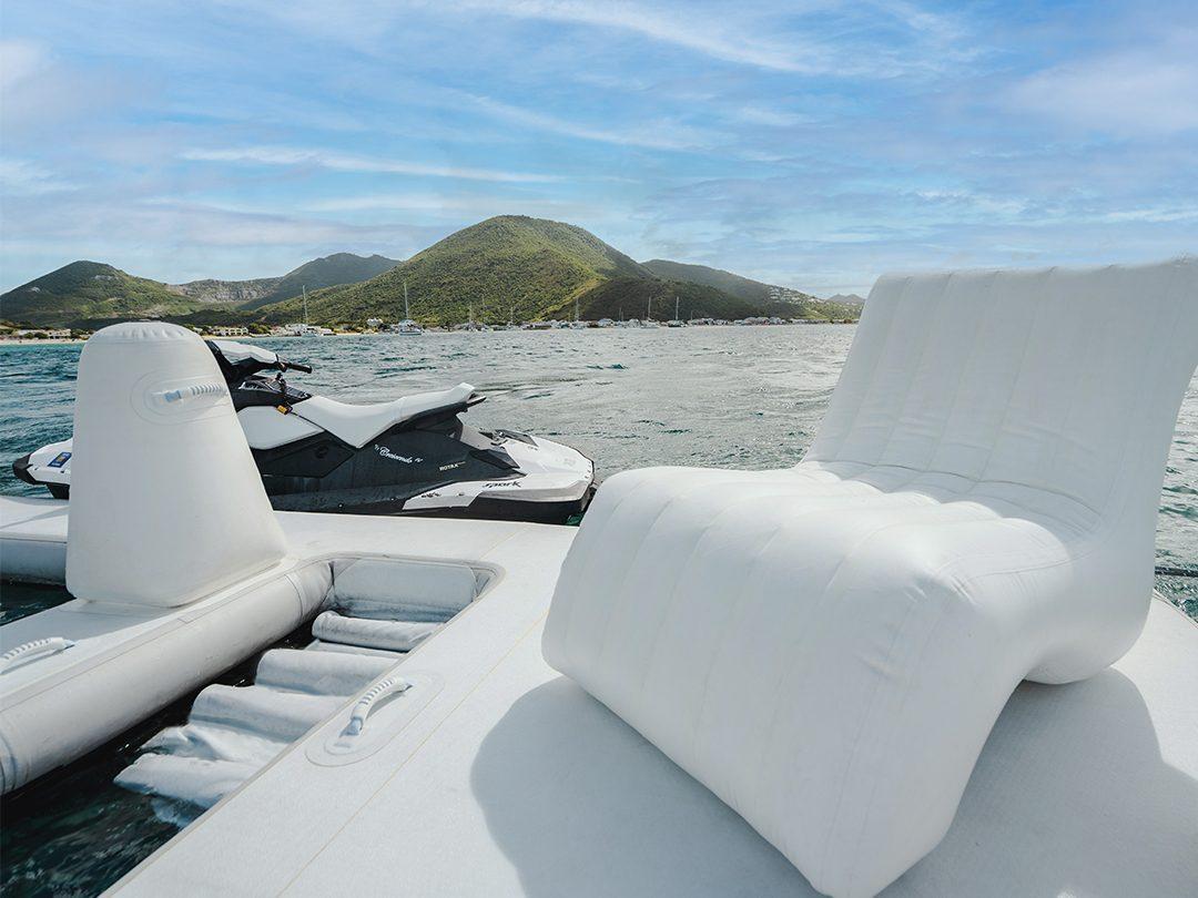 FunSize Beach Club Sea Pool and Superyacht Wave Chair on Motor Yacht Crescendo