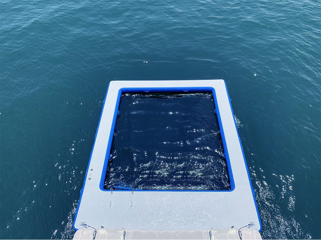 QuickShip Sea Pool from above