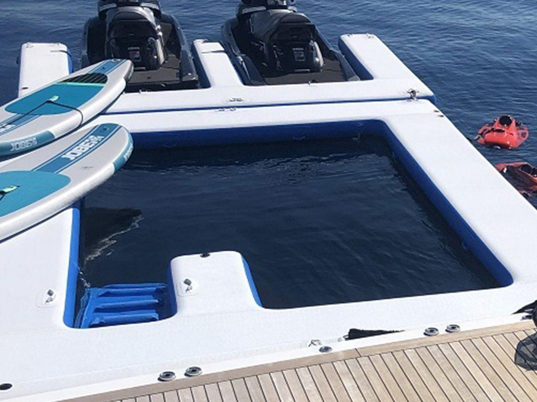 Sea Pool and Jet Ski Dock on Motor Yacht Sea Us