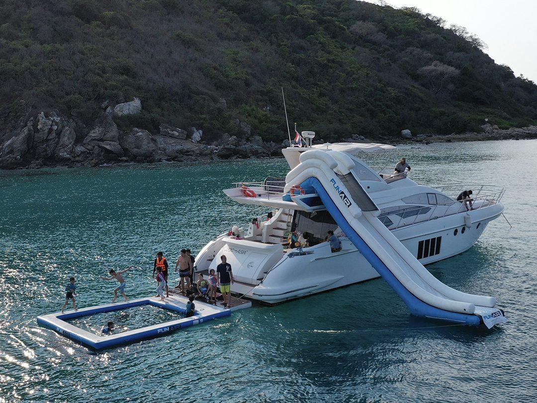 Yacht Slide and Sea Pool on Motor Yacht MGC