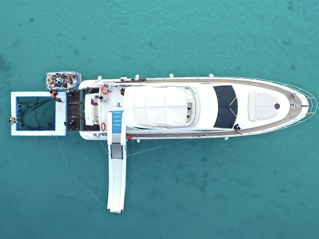Motor Yacht MGC with FunAir Sea Pool and Yacht Slide