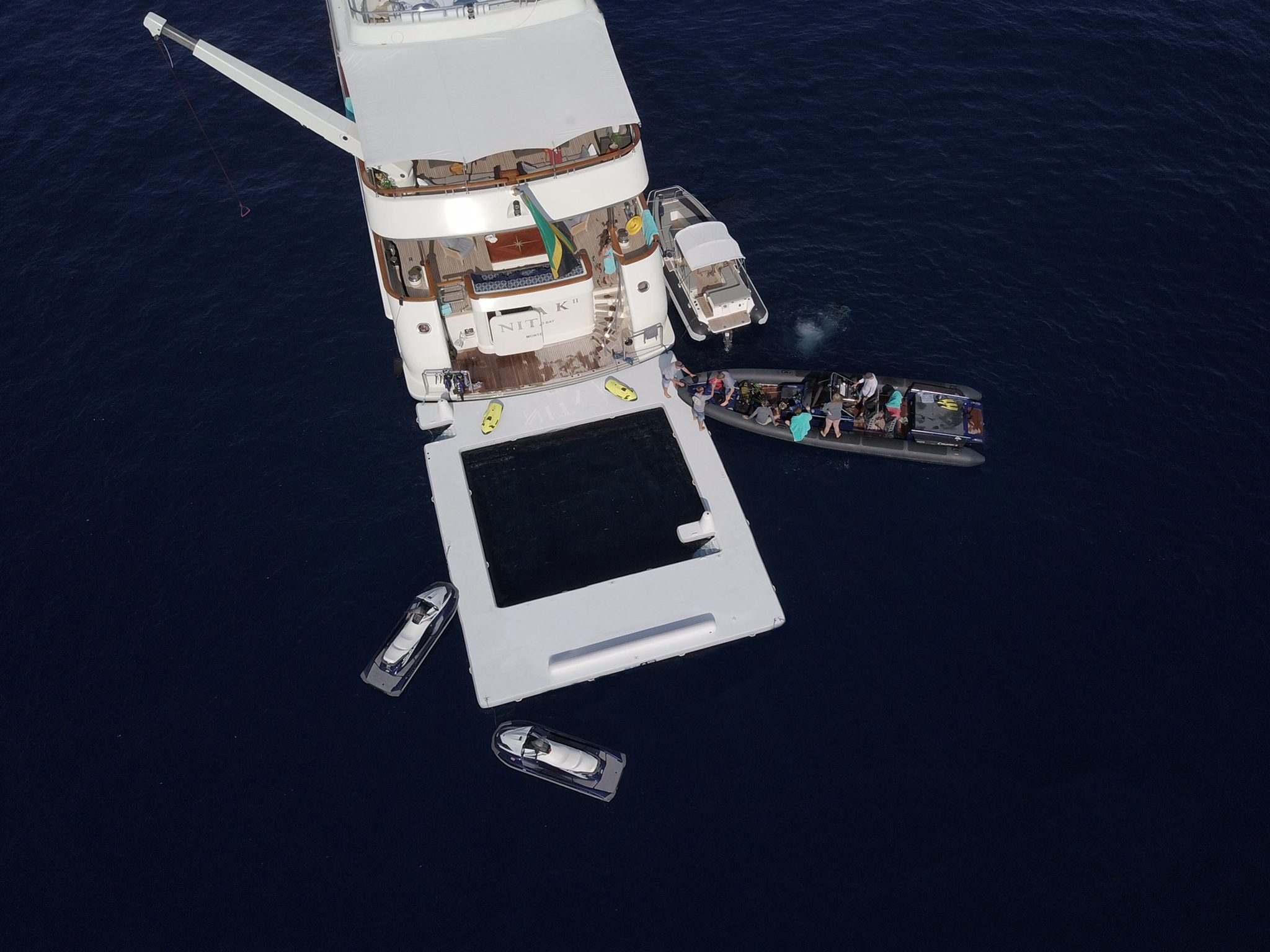 Custom Sea Pool on luxury yacht
